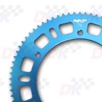 Couronne 219 - 72 dents  NKP (aluminium 7075 T6 / Bleu)