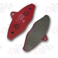 Plaquettes arrière - CRG - Rouge | Direct-karting.com