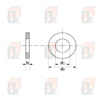 Rondelles plates - M8x24 | Direct-karting.com