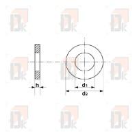 Rondelles plates - M8x18 | Direct-karting.com
