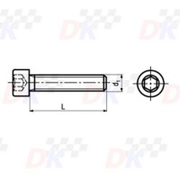 Vis CHC (DIN 912) - M6x12 | Direct-karting.com