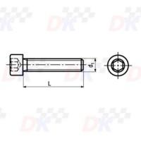 Vis CHC (DIN 912) - M8x25   Direct-karting.com