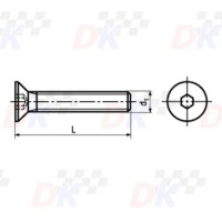 Vis FHC (DIN 7991) - M8x40 | Direct-karting.com