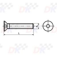 Vis FHC (DIN 7991) - M8x45 | Direct-karting.com
